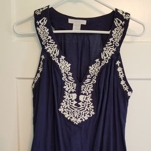 Embroidered Charlotte Russe M drawstring top